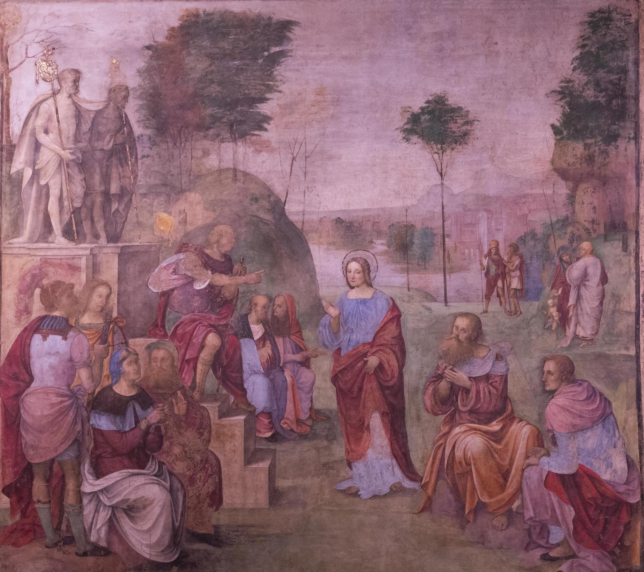 Amico Aspertini, Processo di Santa Cecilia, 1505-1506, Oratorio di Santa Cecilia, Bologna