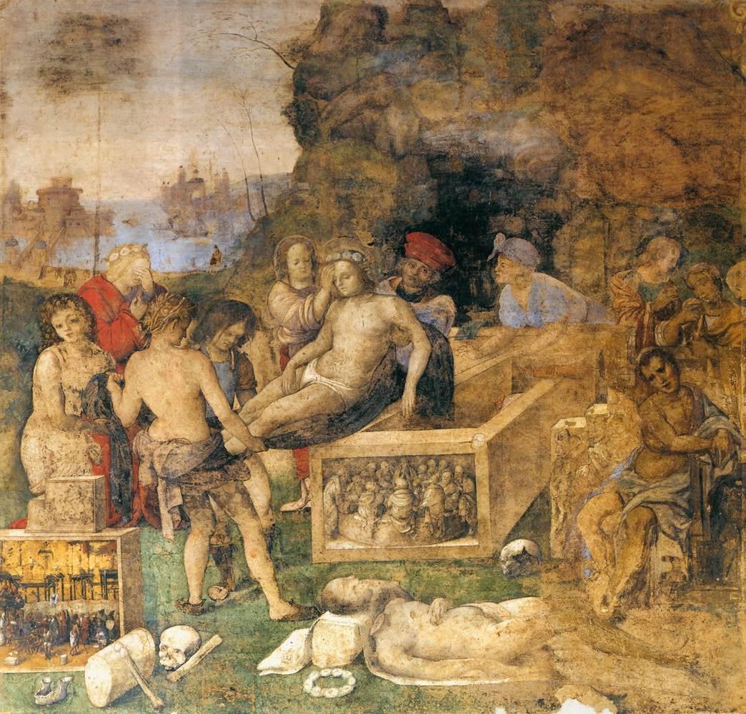 Amico Aspertini, Sepoltura di San Valeriano e San Triburzio, 1505-1506, Oratorio di Santa Cecilia, Bologna