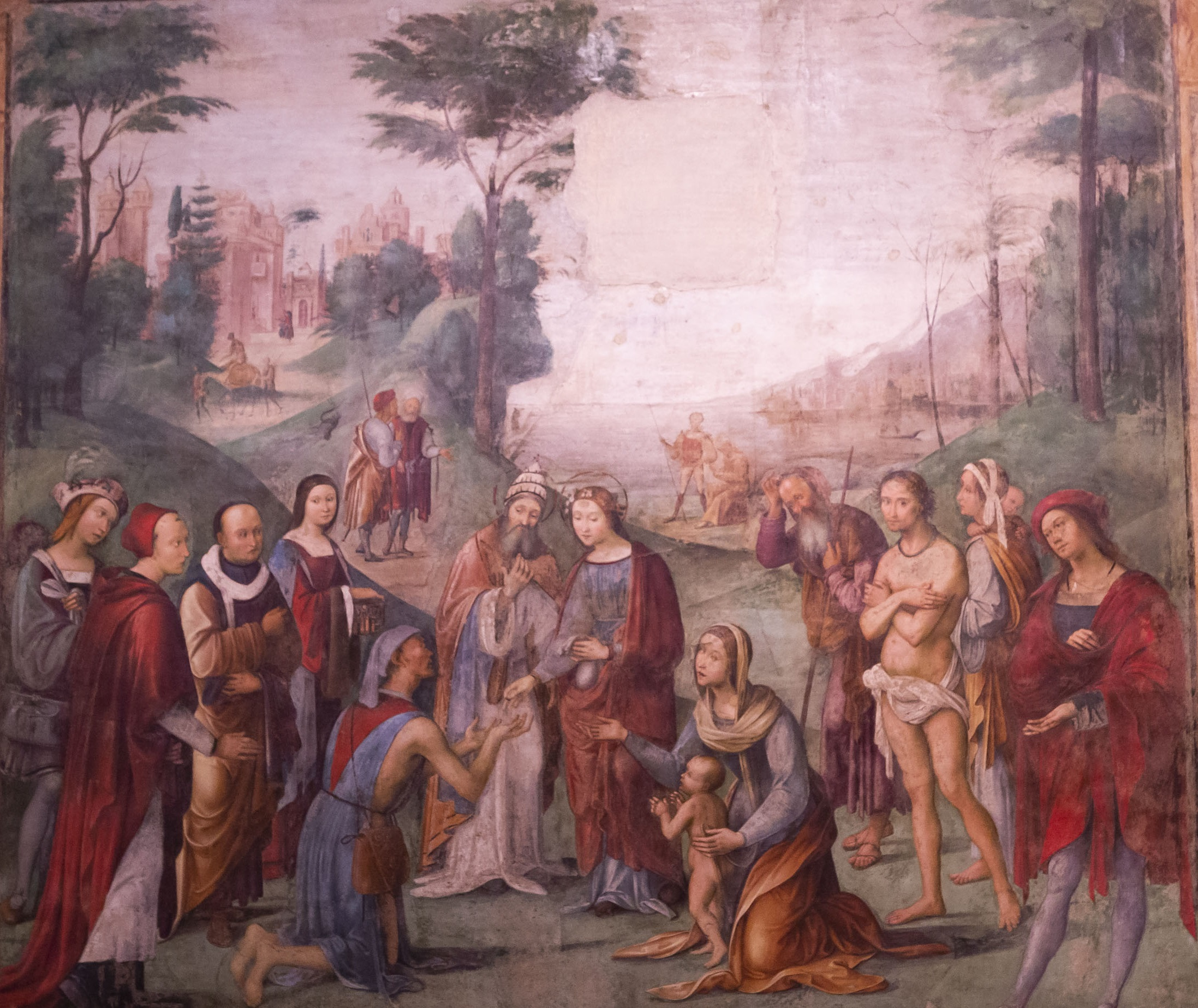 Lorenzo Costa, Elemosina di Santa Cecilia, 1505-1506, Oratorio di Santa Cecilia, Bologna