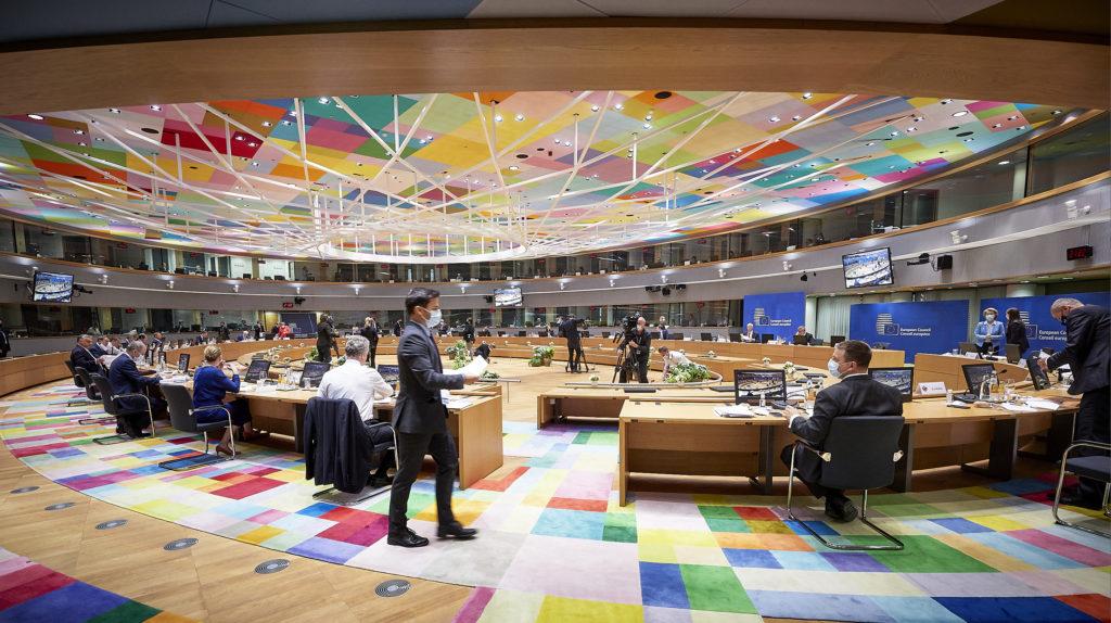 Il Consiglio Europeo riunito a discutere l'accordo