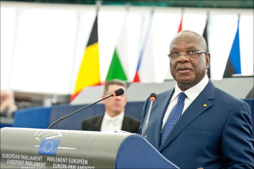 Il presidente del Mali Ibrahim Boubacar Keita (Ibk) al Parlamento Europeo nel 2013