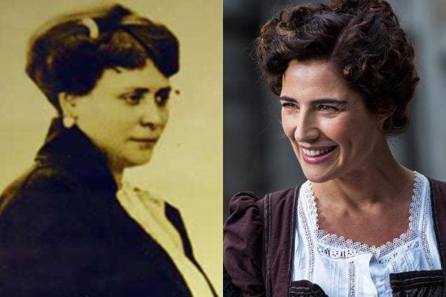 A sinistra l'imprenditrice Luisa Spagnoli. A destra l'attrice Luisa Ranieri, nei panni dell'omonima.