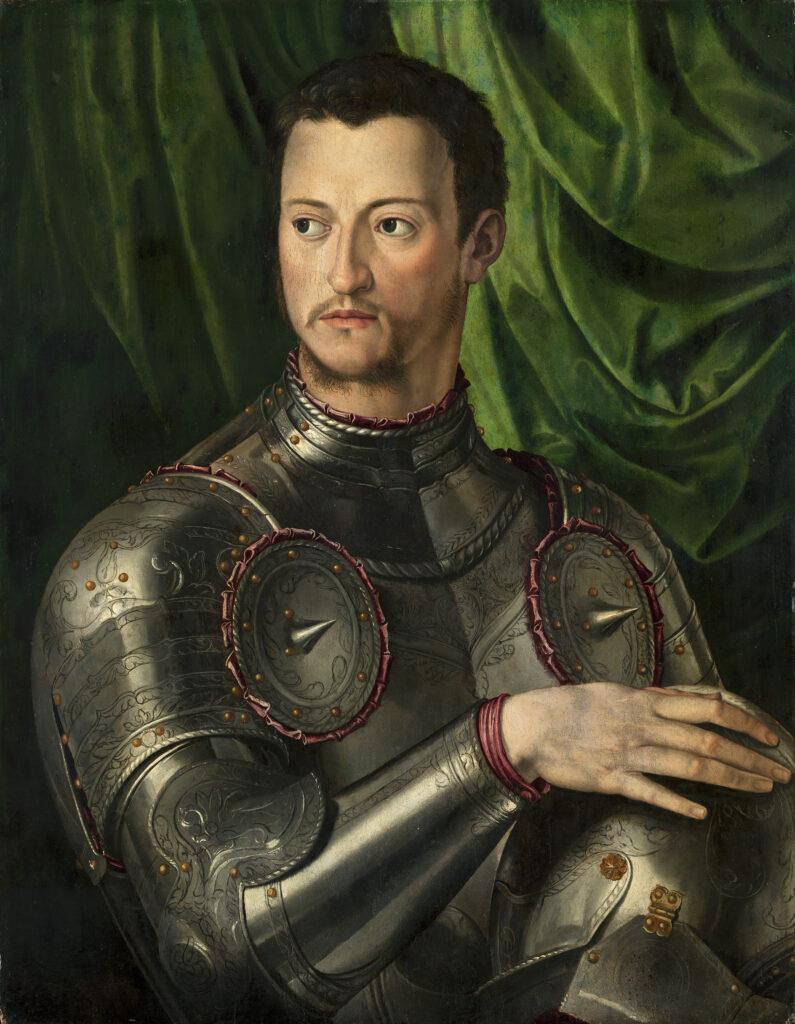 Agnolo Bronzino, Ritratto di Cosimo I in armatura, 1545 ca., Museo Thyssen-Bornemisza, Madrid