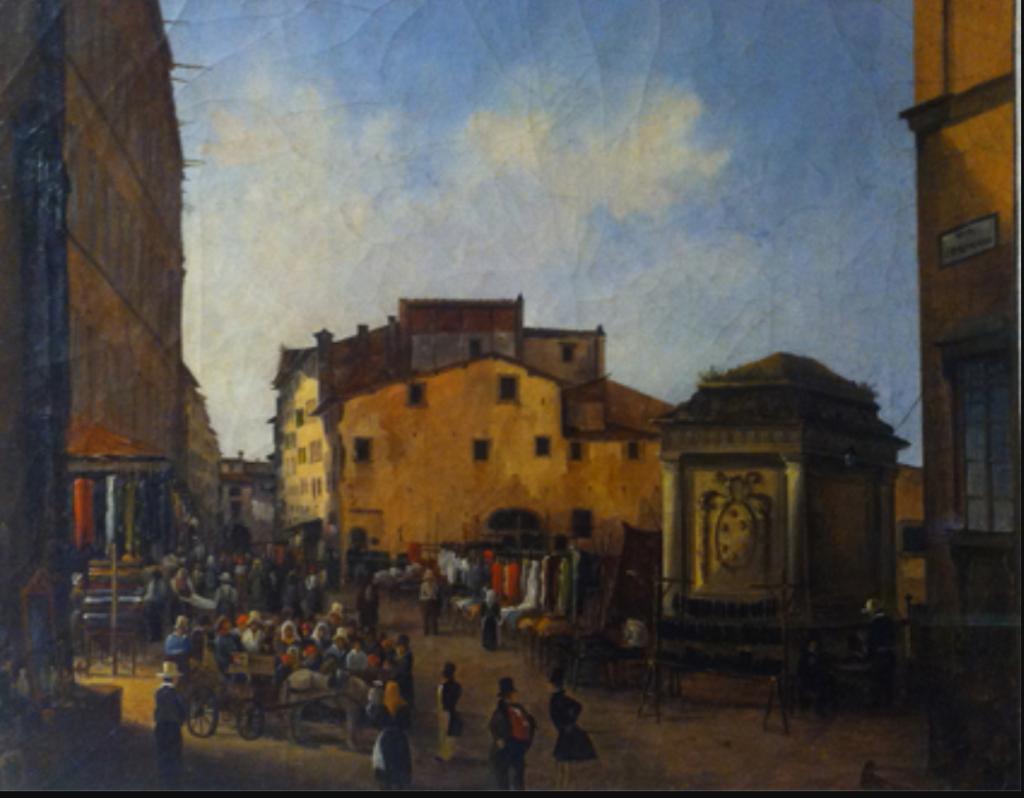 Giovanni Signorini, La base di San Lorenzo, 1830, Museo Tracce di Firenze, Firenze