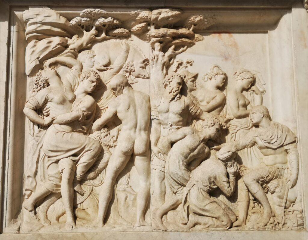 Baccio Bandinelli, Clemenza di Giovanni delle Bande Nere